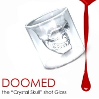 2 X Doomed Crystal Skull Shotglass (2 Piece) Priority Mail