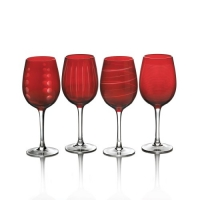 Mikasa Cheers Ruby 15-3/4-Ounce Wine Glass, Set of 4