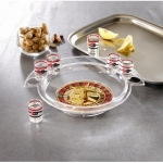 Crystal Clear Shot Glass Roulette Bar Game Set