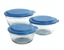 Anchor Hocking 6-Piece Mixing Bowl Set, Clear