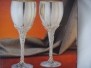 Silver Plated Grape Stem Wine Goblet Set of 2 Home Decor