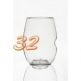 govino Stemless Shatterproof Wine Glasses - 32 Pack