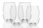 The govino® Dishwasher Safe Wine Glasses Flexible Shatterproof Recyclable, 16-ounce, Set of 4