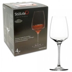 Stolzle 4-Pack Experience Red Wine Set, 23-Ounce, Lead-Free Crystalline