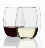 Govino Wine Glass Flexible Shatterproof Recyclable, Set of 4 - Bar & Cocktail Tools, Wine Glasses Short
