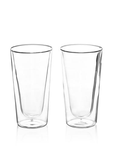 luigi bormioli set of 2 duos beverage glasses  clear  15
