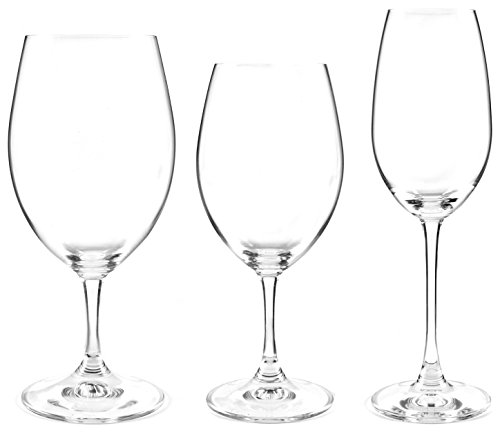 Riedel ouverture set of 12 buy red and white wine glasses and get 4 bonus champagne glasses - Riedel swirl white wine glasses ...